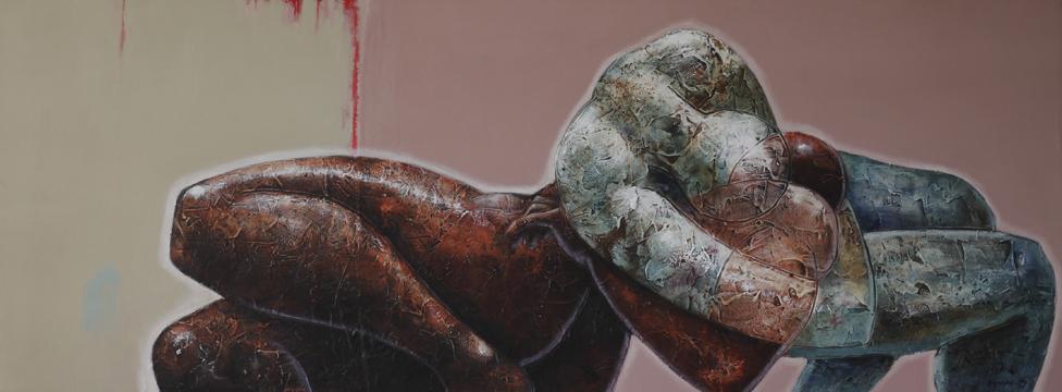 yinyang(the Impaler) - Portrait Painting by Segun Aiyesan