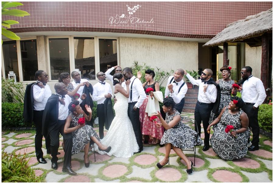 wedding party, wani olatunde photography