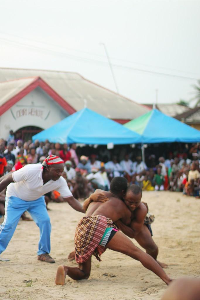 Wrestlers, Ete Wrestling Festival, Isiokpo