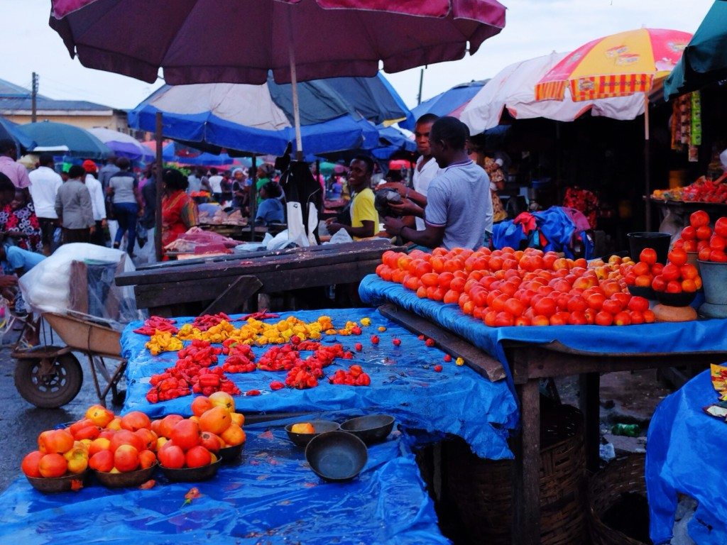 Tomatoes for sale, Creek Road Market, Old Port Harcourt Township