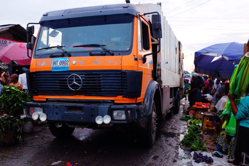 Waste Truck, Creek Road Market, Old Port Harcourt Township