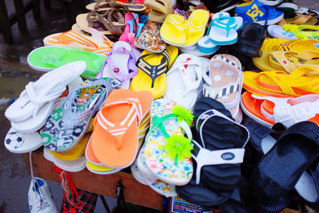 Slippers for sale, Creek Road Market, Old Port Harcourt Township