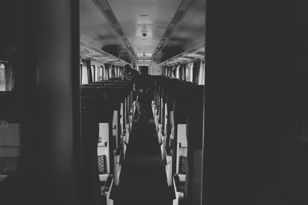 Dark Train Cabin
