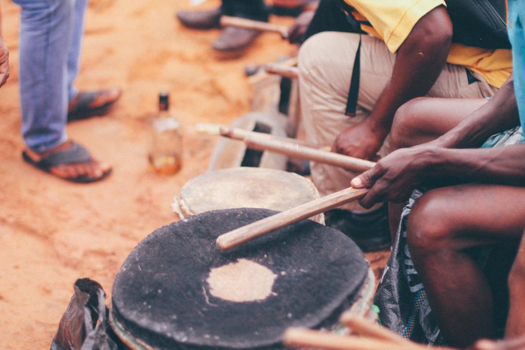 Drumming, Ete Wrestling Festival, Omagwa