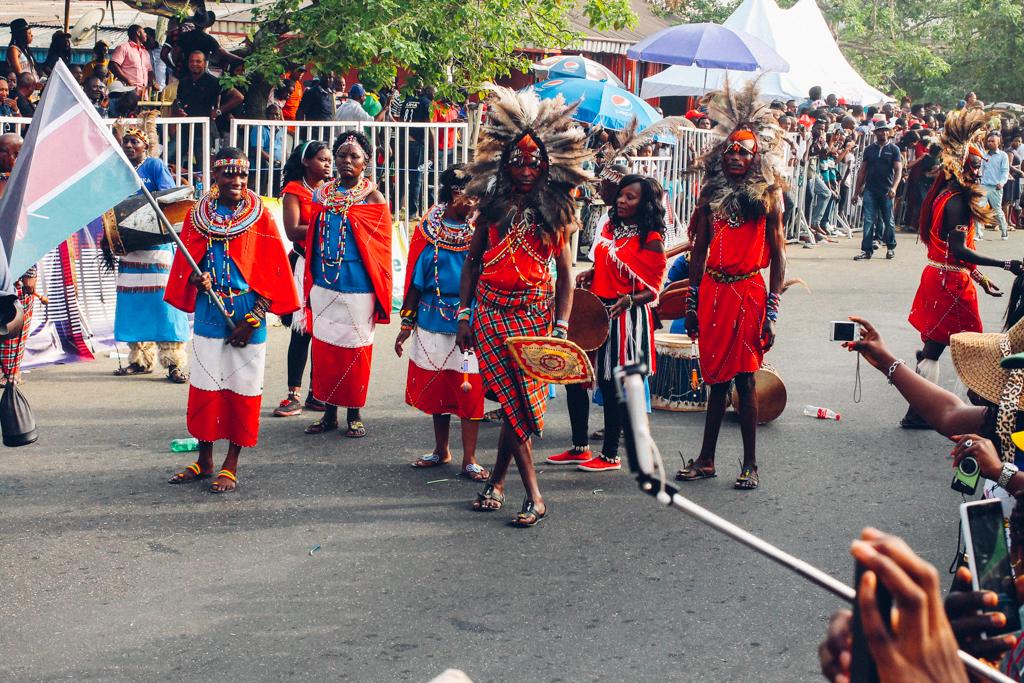 Calabar Carnival 2015 participants from Kenya