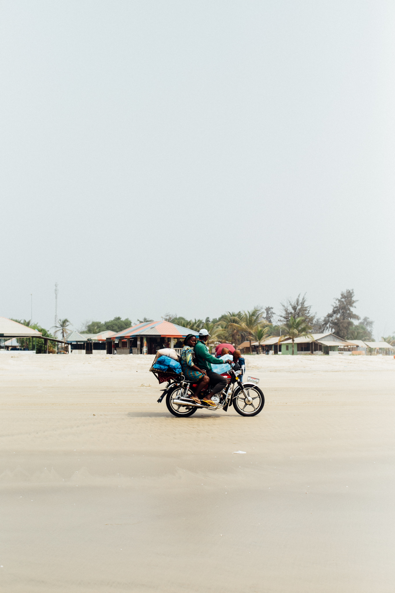Motorcycle, Ibeno Beach