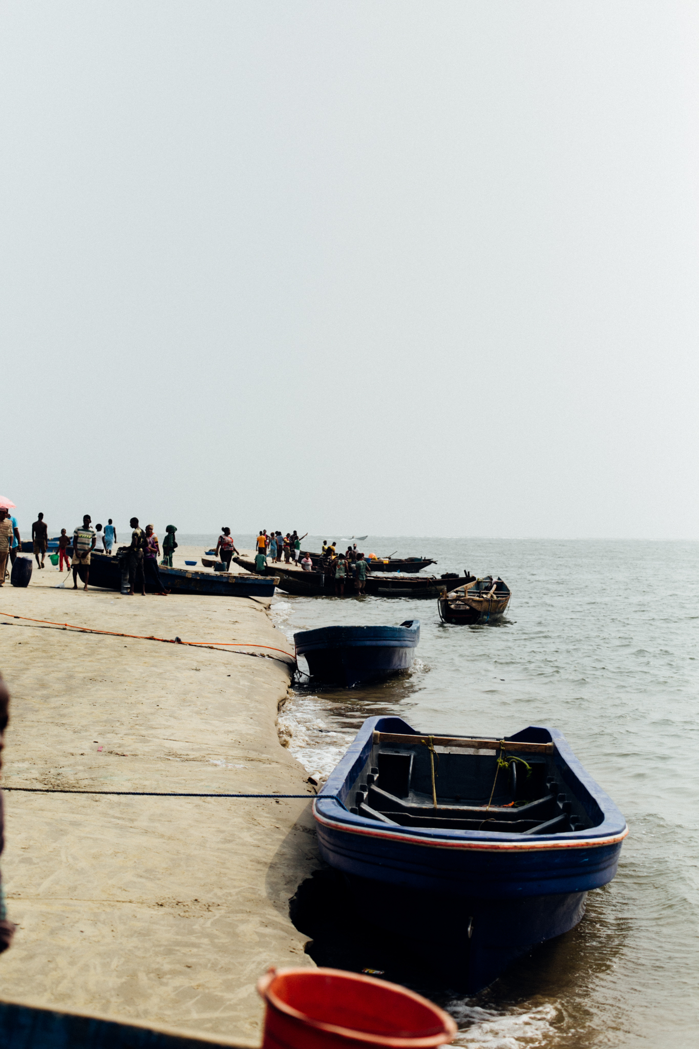 Boats, Ibeno Beach