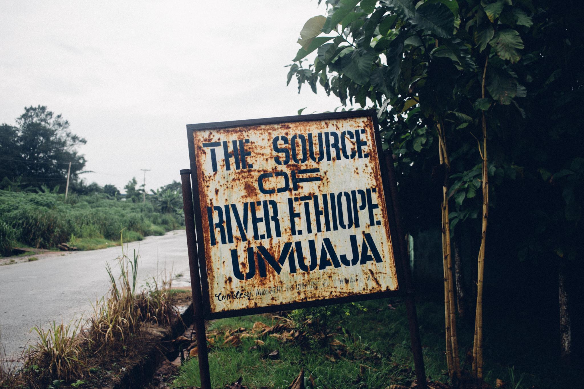 Umuaja, Source of River Ethiope