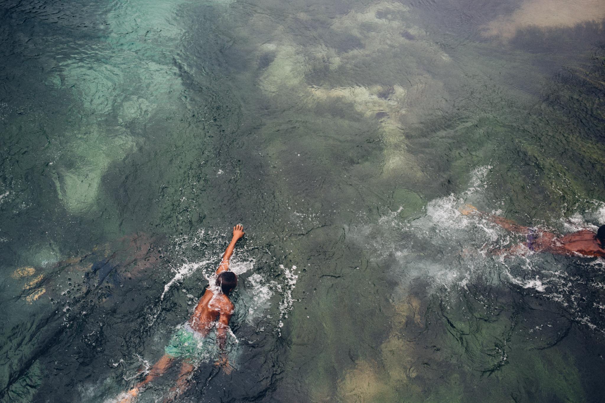 Boy swimming, River Ethiope, Abraka