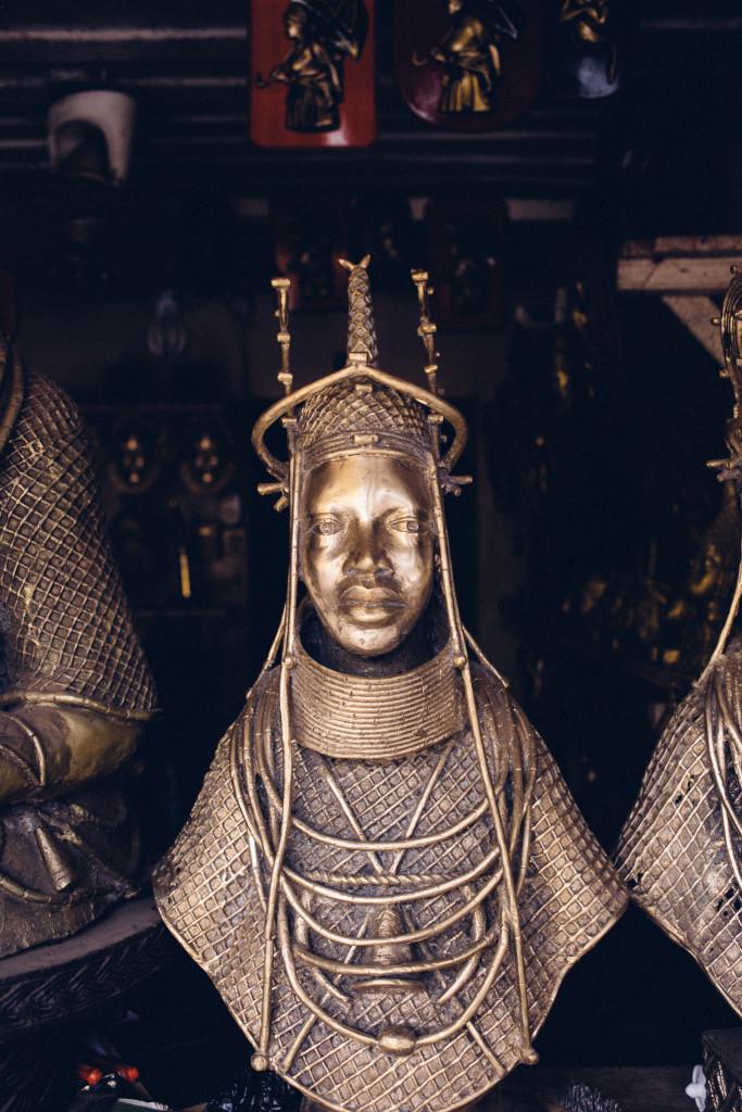 Bust of an Oba, Igun Street, Benin