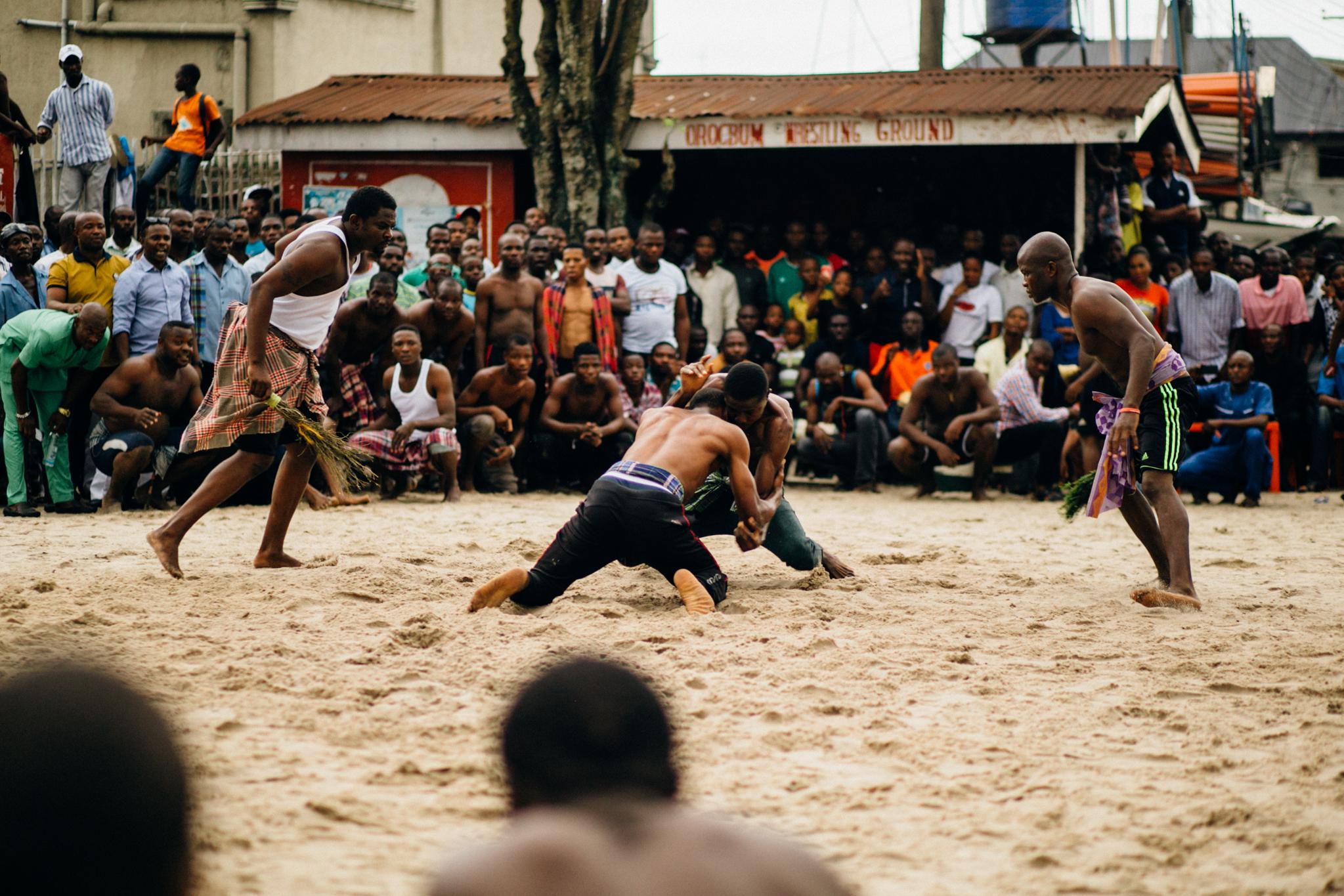 Wrestlers, Egelege Festival, Ogbunabali, Port Harcourt