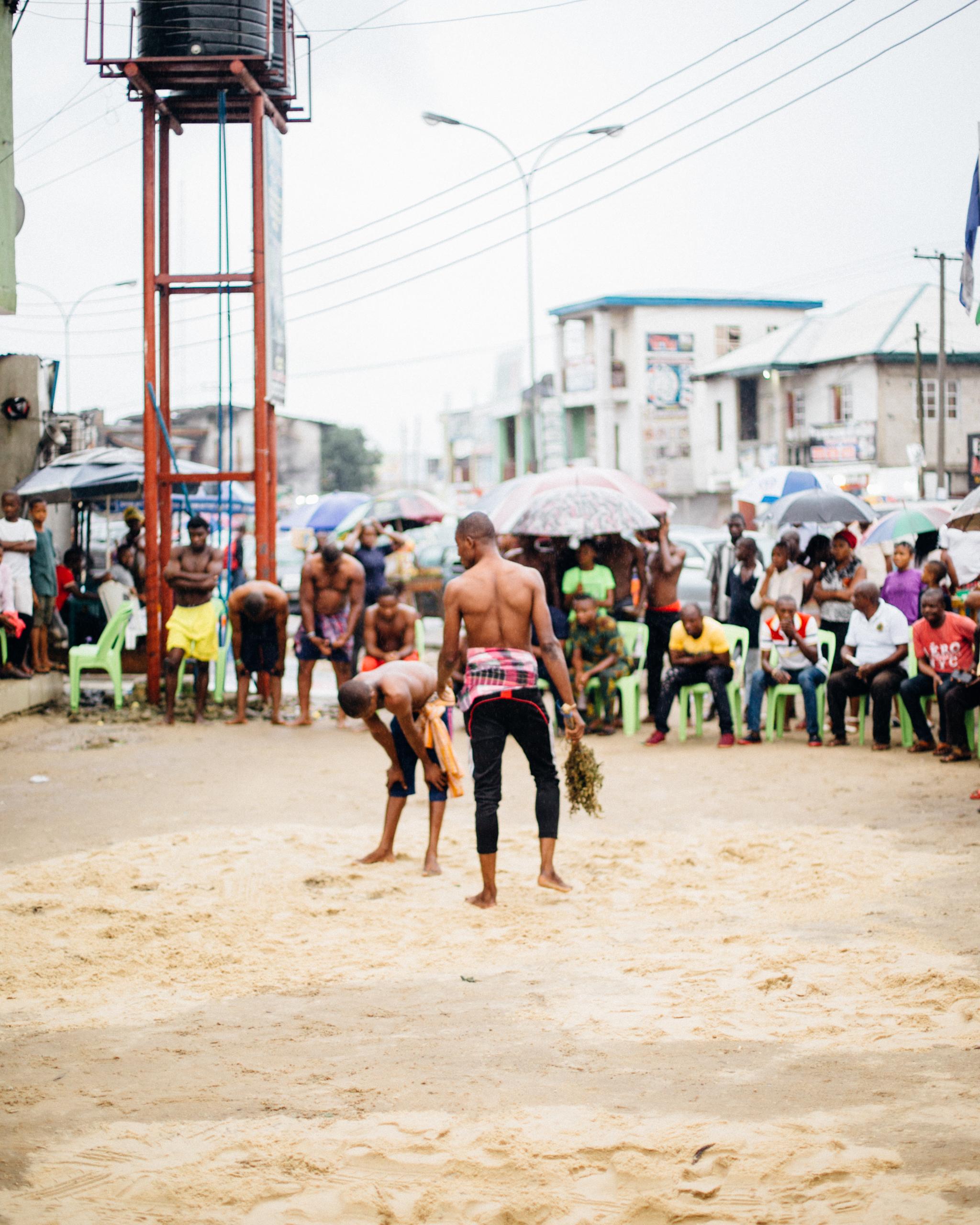 Wrestlers, Egelege Festival, Rumuola, Port Harcourt