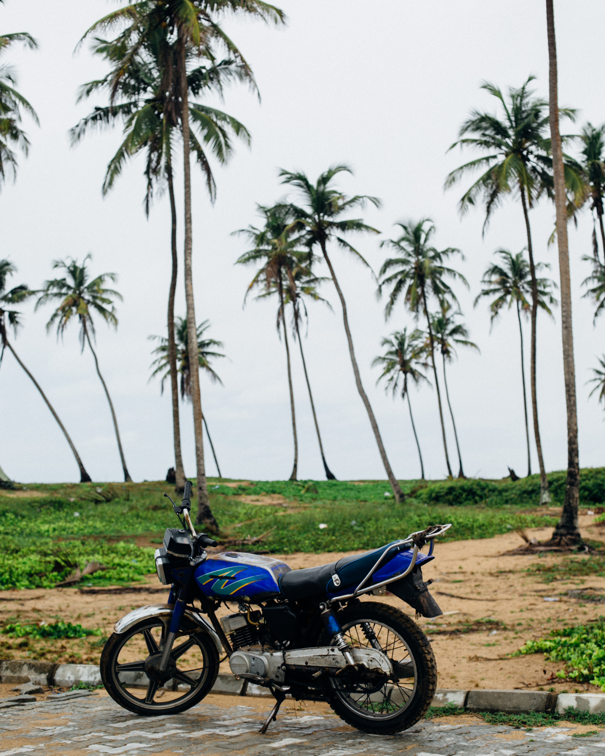 Motorcycle and Coconut Trees, Badagry