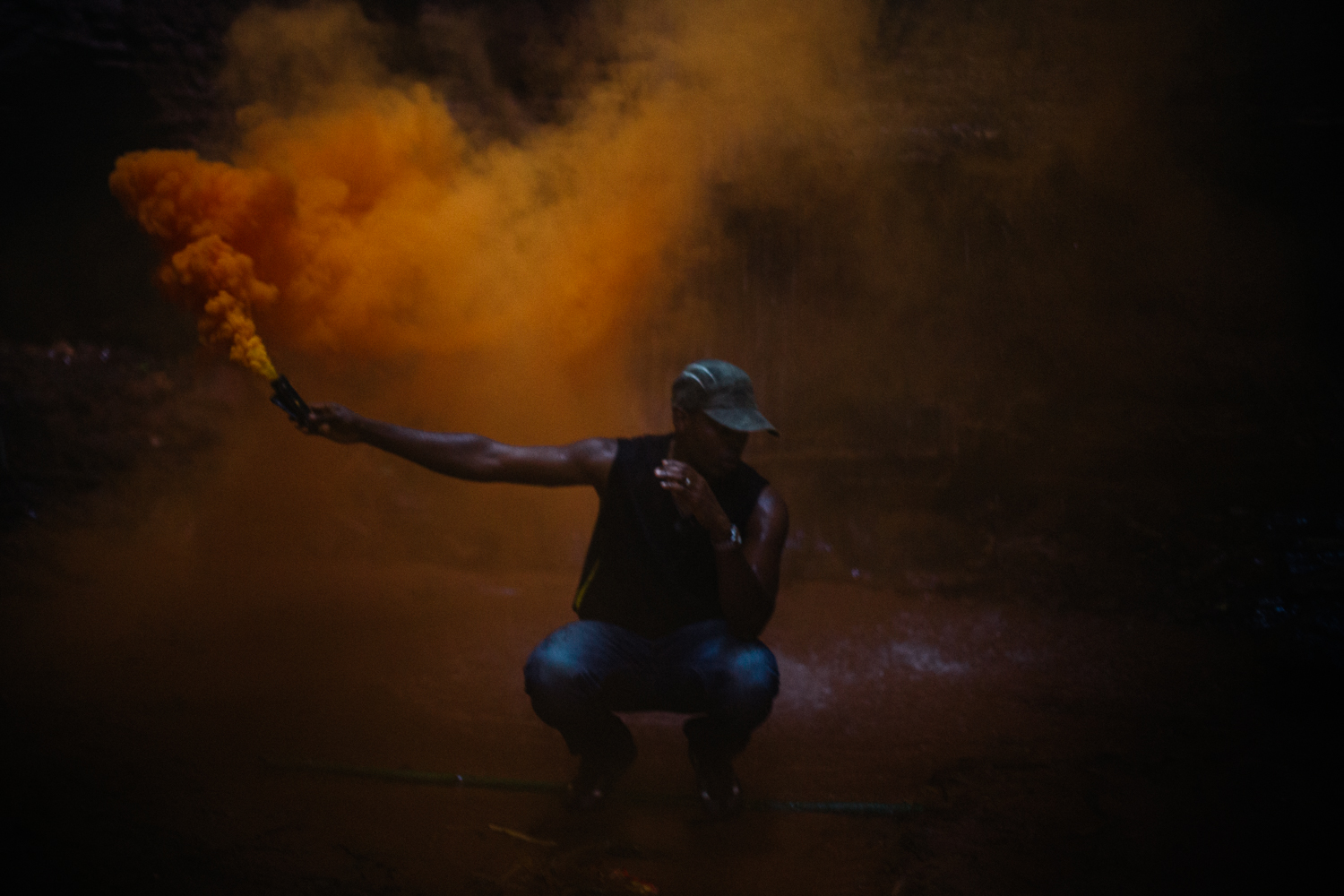 Portraits with smoke bombs, Ngwo Waterfall and Cave