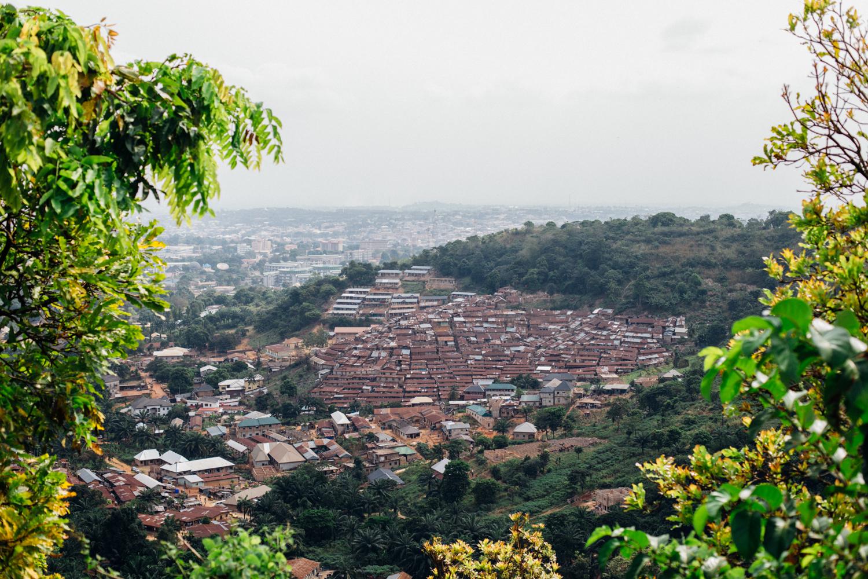 Aerial View from Milliken Hill, Enugu