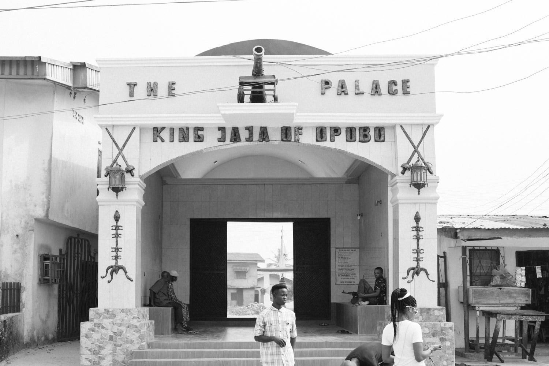Entrance to the palace of King Jaja, Opobo