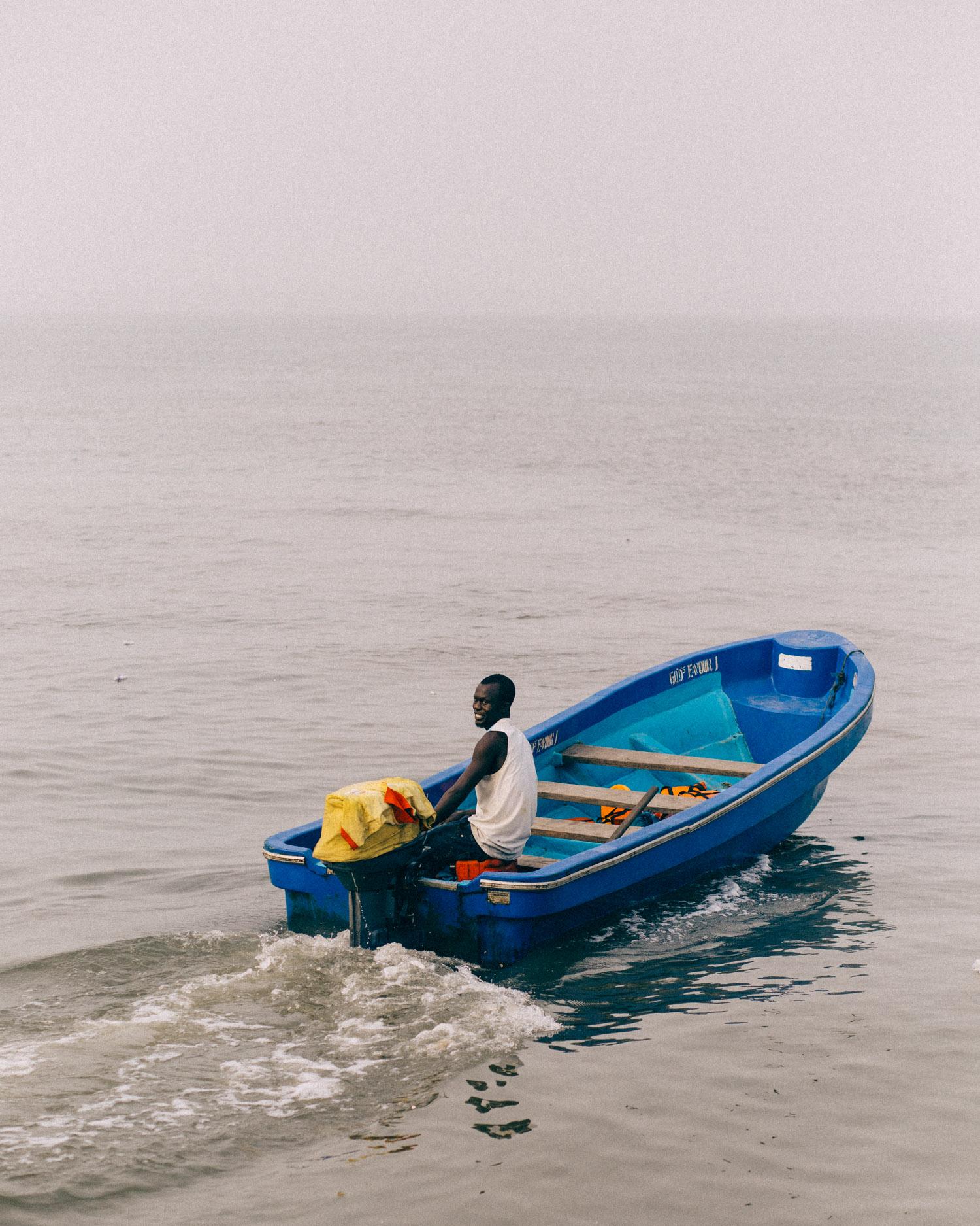 Speed Boat leaving Opobo