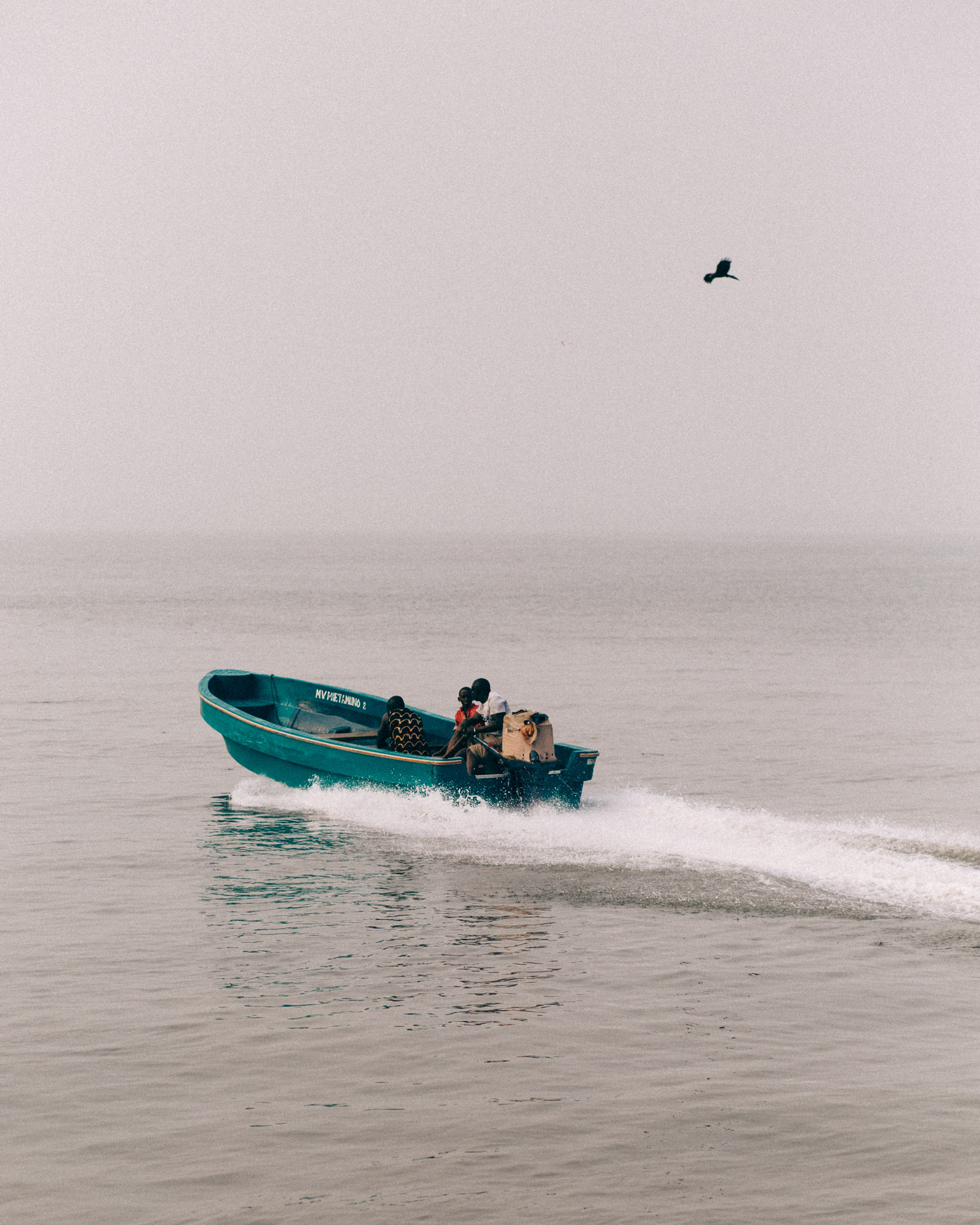 Speed Boat with passengers leaving Opobo