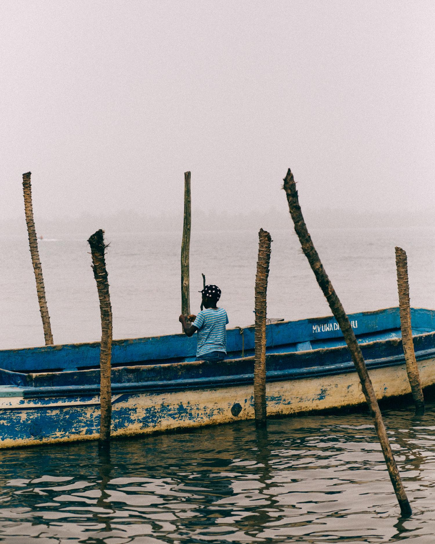Boy fishing, Opobo
