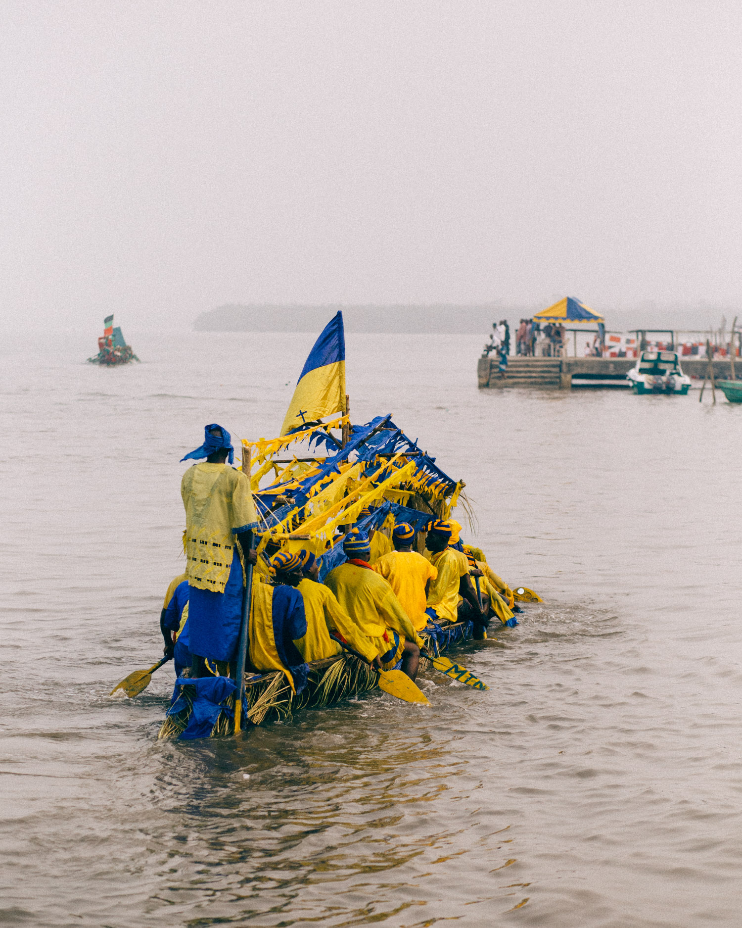 Men Rowing, Opobo Boat Regatta Festival