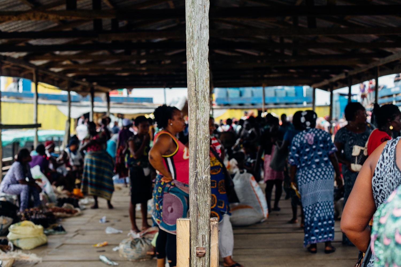Floating market in Koko, Niger Delta