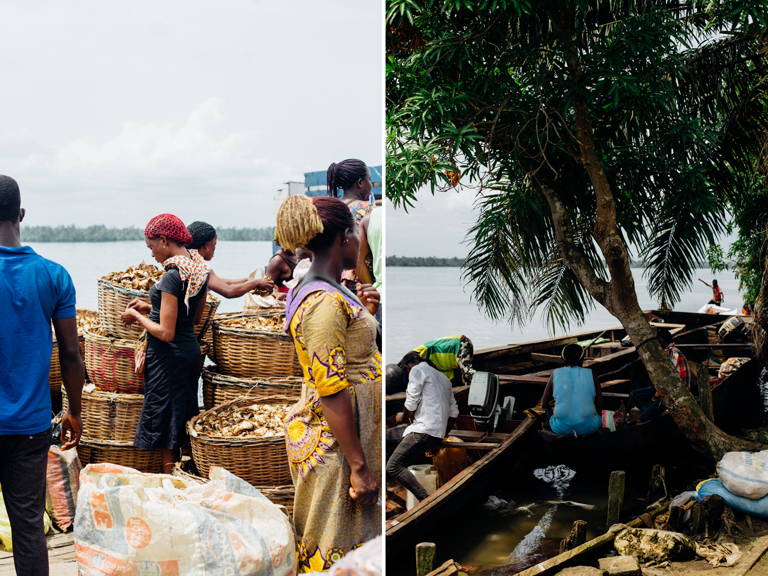 People at the market in Koko, Niger Delta