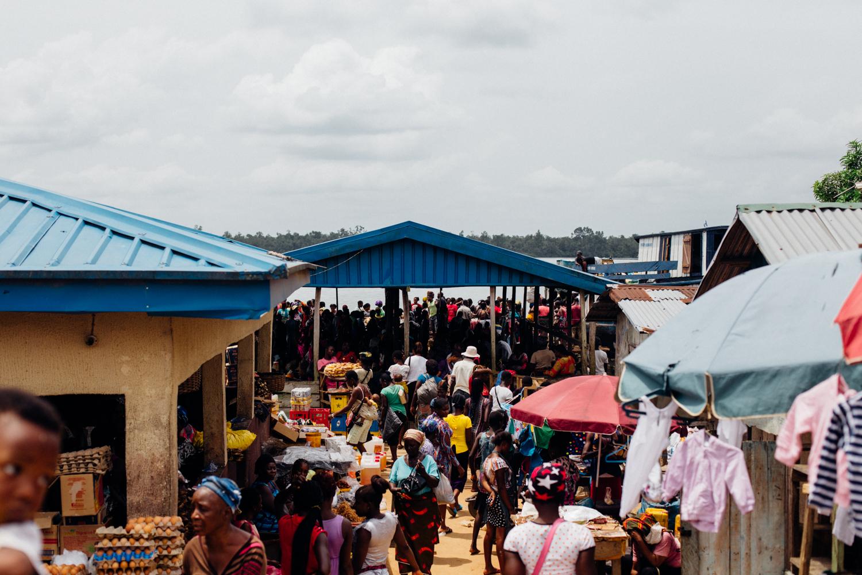 Floating market in Koko