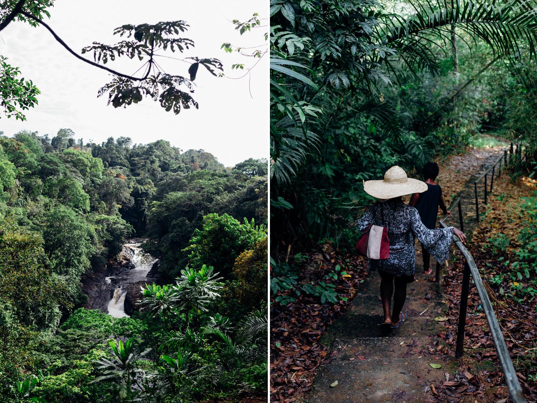 Descending the falls, Kwa Falls