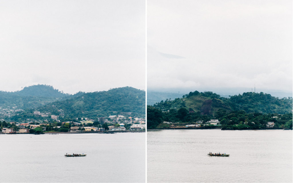 Boat arriving at one of the beaches in Limbe