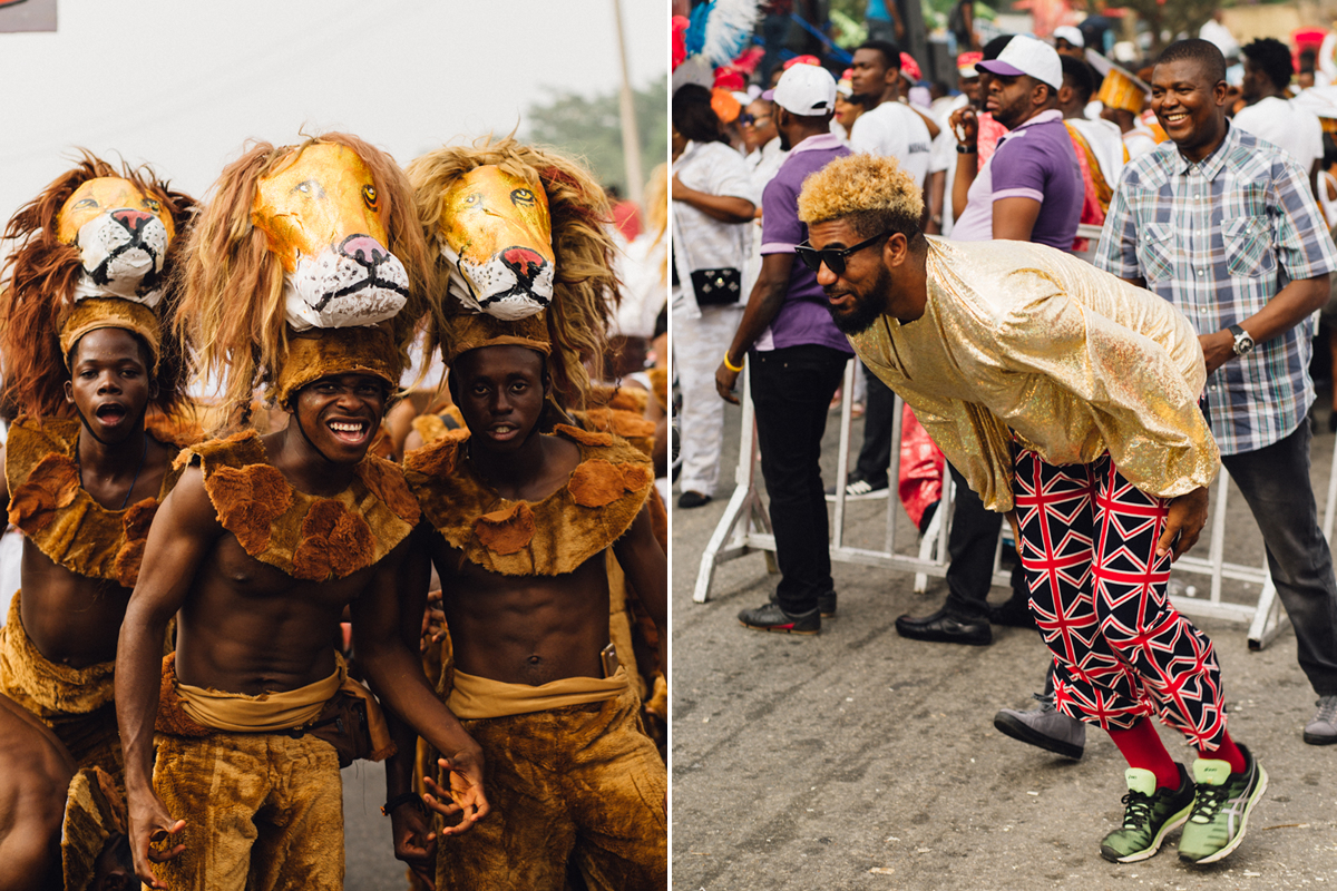 Lions and Tall Thin Tony Portraits Calabar Christmas Carnival 2017